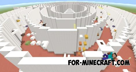 Circular Parkour Map for Minecraft PE 1.14