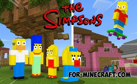 The Simpsons Addon for Minecraft PE 1.14.0.6