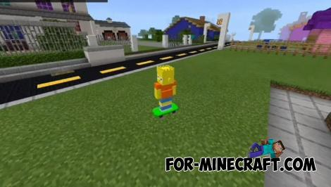 The Simpsons Addon for Minecraft PE 1.14.0