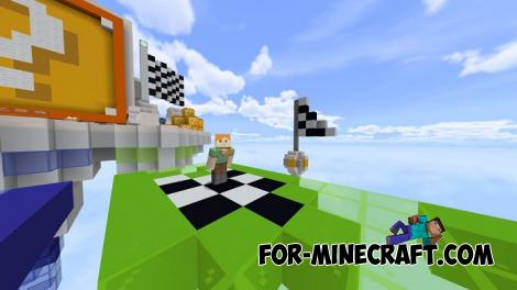 Lucky Blocks Race Map for Minecraft PE