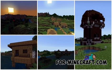 Double Witch Hut Seed for Minecraft PE 1.14