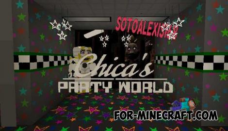 Chica's Party World Map for Minecraft PE 1.14