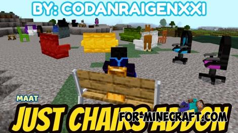 Just Chairs Addon for Minecraft PE 1.13 1.14