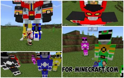 Power Rangers Mod for Minecraft PE 1.14
