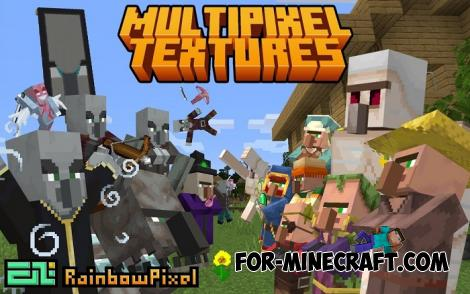 Multi Pixel Resource Pack [32x] for Minecraft PE 1.14
