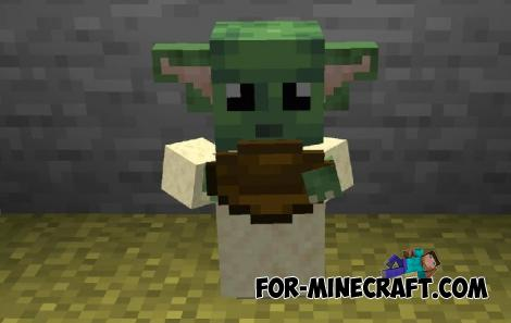 Tameable Baby Yoda Addon for Minecraft PE 1.14