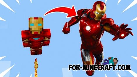 Flying Iron Man Map for Minecraft PE 1.14