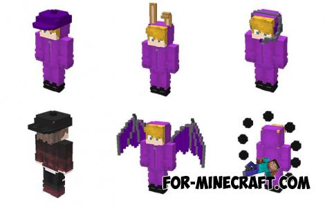 3D Skin Pack for Minecraft PE 1.14