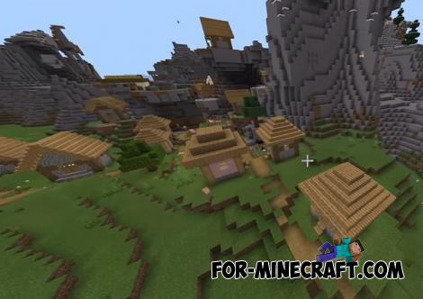 Hill Village Seed for Minecraft PE 1.14