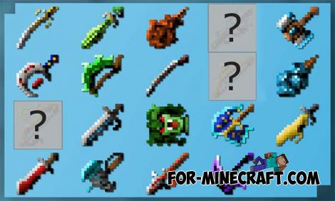 LostWeapons More Swords Addon for MCPE