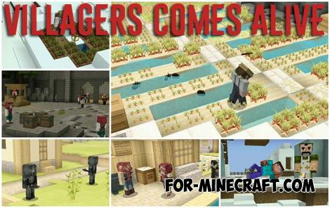 Villagers Comes Alive Addon for Minecraft PE 1.14
