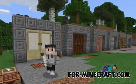 Doors Plus Addon for Minecraft PE 1.15