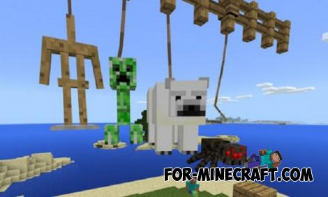 Leashable Mobs Addon for Minecraft PE 1.16