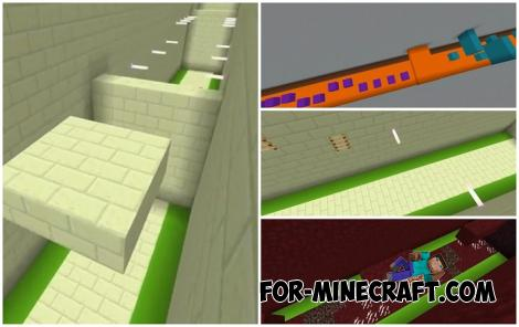 Straight-Line Parkour Map for Minecraft PE 1.16