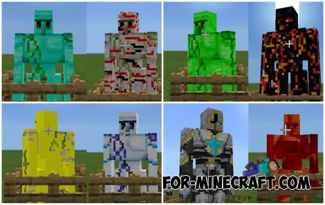 Golems Plus Addon for Minecraft Bedrock