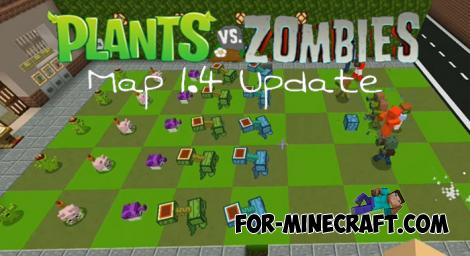 Plants vs. Zombies Map for Minecraft PE