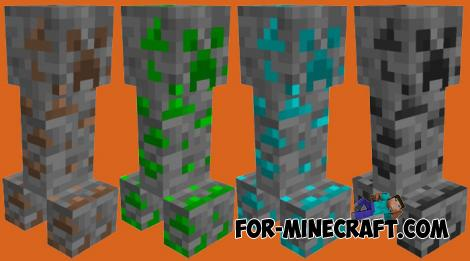 Ore Creepers Addon for Minecraft PE 1.16