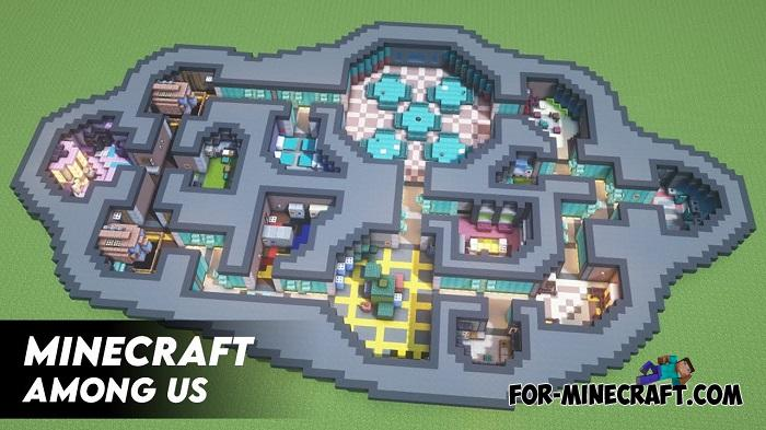 Map Among Us Di Minecraft Among Us The Skeld Map Guide Map Vents Tips For Moving Around