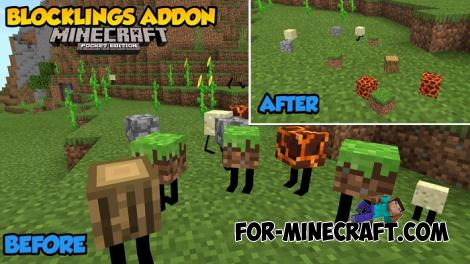 Blocklings Addon for Minecraft PE 1.16.100