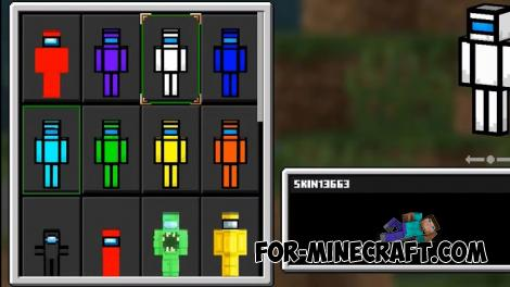 Among Us 3D Skin Pack for Minecraft PE