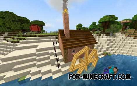 Windmills Addon for Minecraft PE 1.16