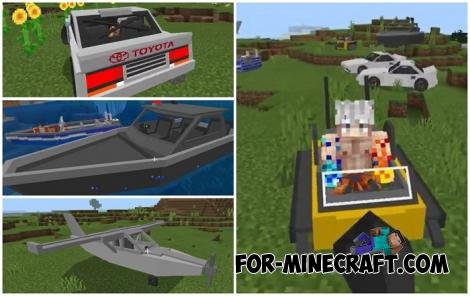 Craftable Vehicles Addon for Minecraft PE