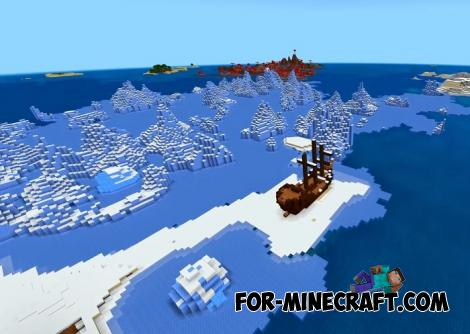 Snow Shipwreck Seed for MCPE