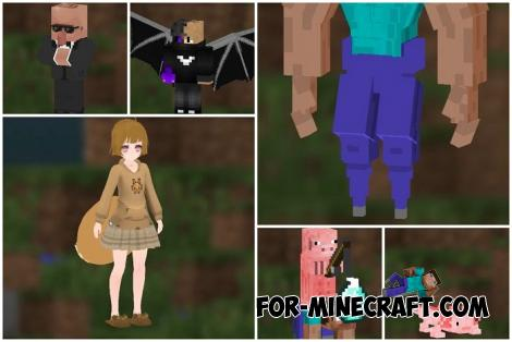 4D & 5D Skin Pack for Minecraft PE