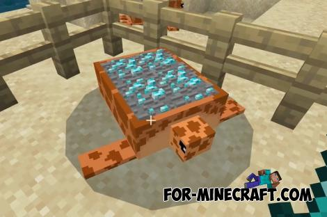 Ore Turtles Addon for MCPE 1.16