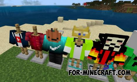 More Clothes Addon for Minecraft PE